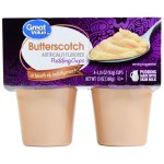 Great Value Pudding Cups, Butterscoth, 13 oz, 4 Count