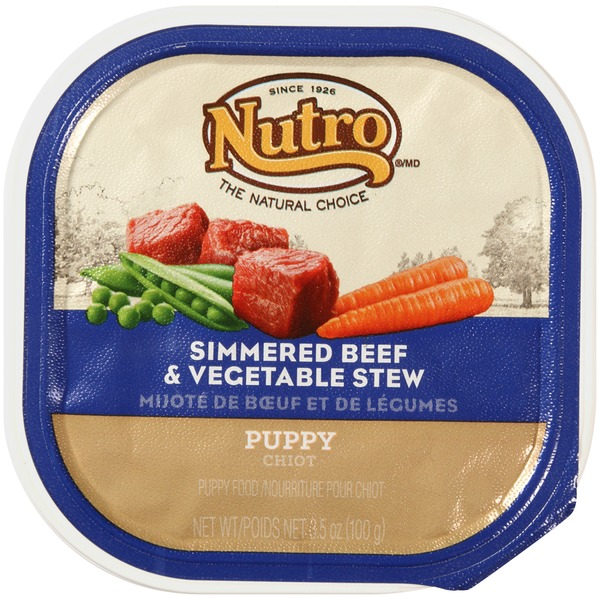 Nutro Puppy Simmered Beef & Vegetable Stew Wet Puppy Food