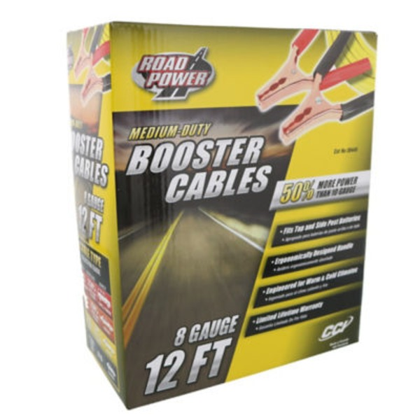 Coleman Cable Road Power Medium Duty Booster Cables 8 Gauge