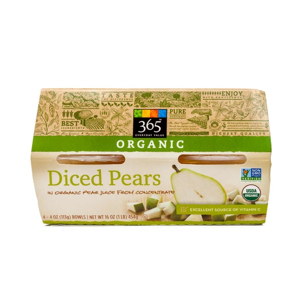 365 Organic Diced Pears in Juice