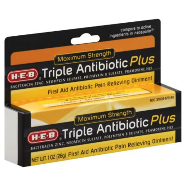 H-E-B Triple Antibiotic Plus First Aid Antibiotic Ointment