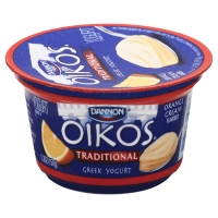 Dannon Oikos Greek Yogurt Traditional Orange Cream
