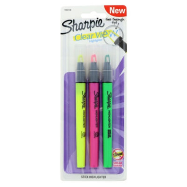 Sharpie Clear View Highlighter Assorted Colors