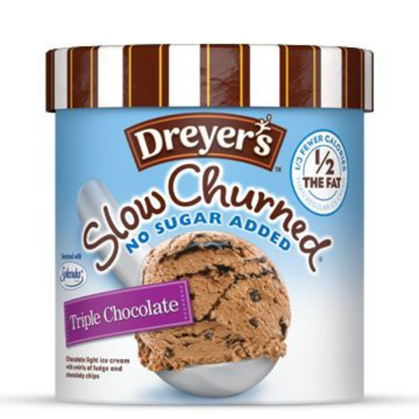 Dreyer's Slow Churned No Sugar Added, Triple Chocolate Ice Cream