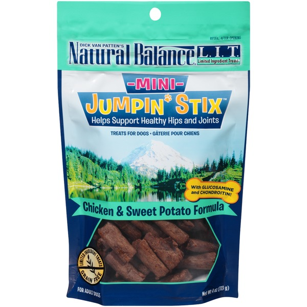 Natural Balance Mini Jumpin' Stix Chicken & Sweet Potato Formula Dog Treats