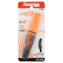 Rimmel London ScandalEyes Curve Alert 001 Black Big Curved Brush Mascara, 0.41 fl oz