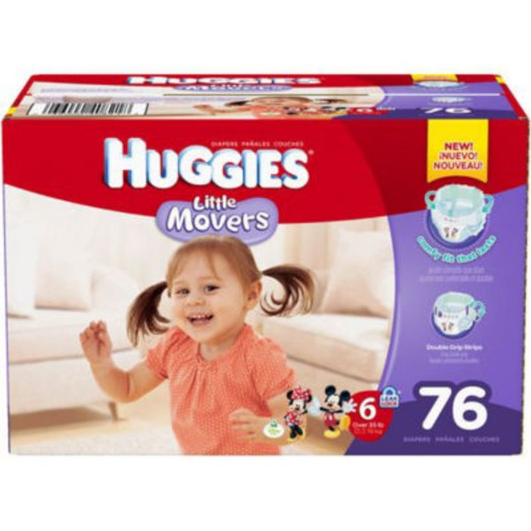 Huggies Supreme Little Movers Size 6 Diapers