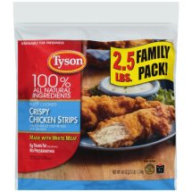 Tyson Fully Cooked Crispy Strips Chicken, 40 oz