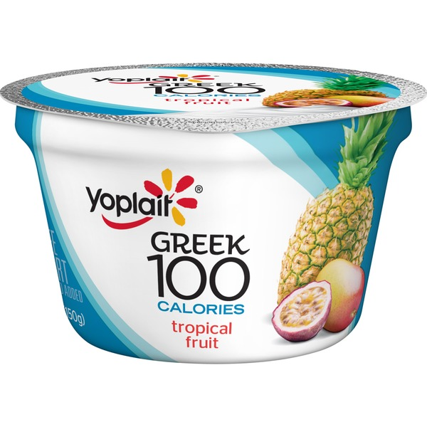 Yoplait Greek 100 Calories Tropical Fruit Fat Free Yogurt