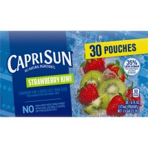 Capri Sun Juice Pouches, Strawberry Kiwi, 6 Fl Oz, 30 Count
