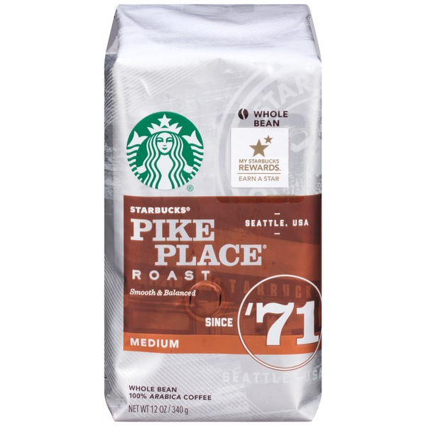 Starbucks Pike Place Medium Roast Whole Bean Coffee