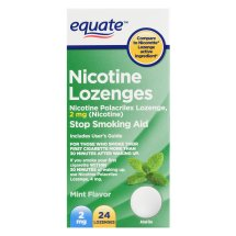 Equate Nicotine Lozenges, Mint Flavor, 2 mg, 24 Count