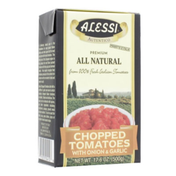 Alessi Tomatoes, Chopped, with Onion & Garlic