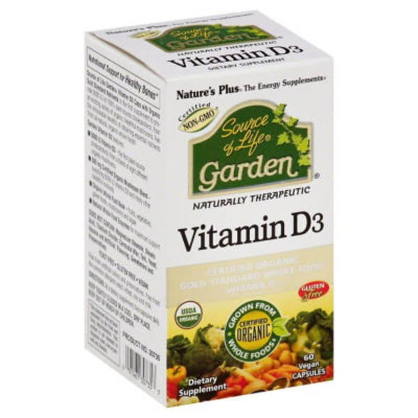 Nature's Plus Vitamin D3, Vegan Capsules