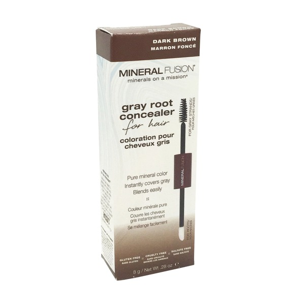 Mineral Fusion Grey Root Concealer Dark Brown
