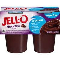 Jell O Ready To Eat Sugar Free Chocolate Reduced Calorie Pudding Snacks
