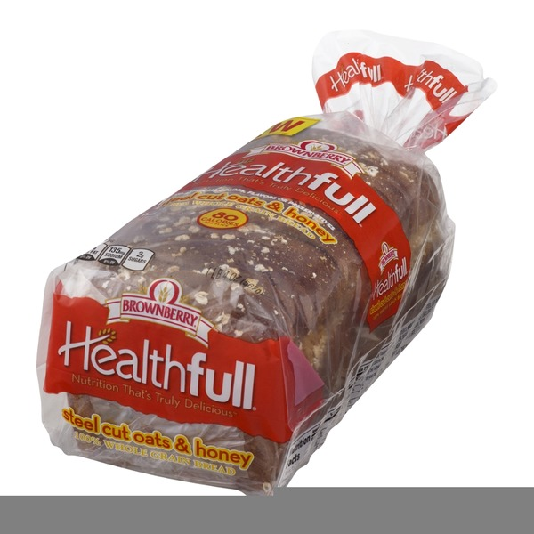 Brownberry/Arnold/Oroweat Healthfull 100% Whole Grain Bread Steel Cut Oats & Honey
