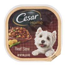 Cesar Home Delights Beef Stew Wet Dog Food Trays, 3.5 Oz
