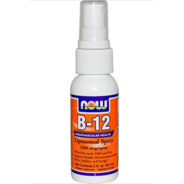 Now B-12 Lipospray Spray, 1000 mcg, spray