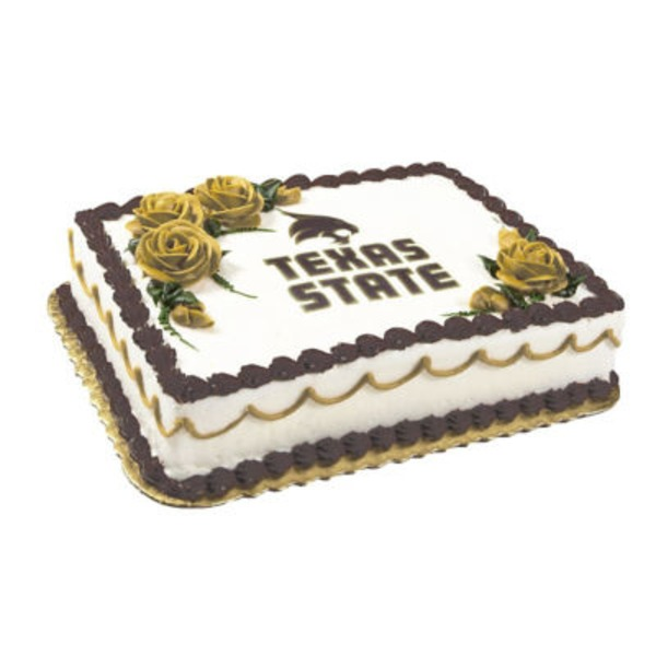 Texas State Full Sheet Cake