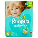 Pampers Baby Dry Diapers, Size 6, 21 Diapers