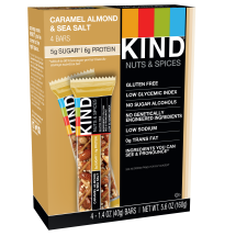 KIND Bars, Caramel Almond & Sea Salt, 4 Bars, Gluten Free