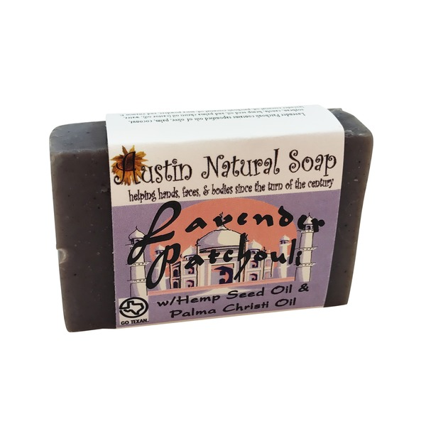 Austin Natural Soap Lavender Patchouli Soap With Hemp Seed Oil & Palma Christi Oil