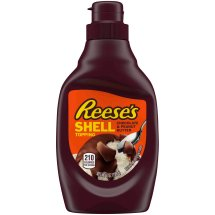 REESE'S Chocolate & Peanut Butter Shell Topping, 7.25 oz