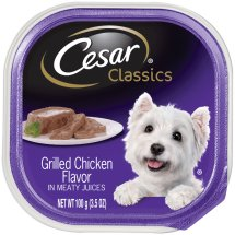 Cesar Classics Pate Grilled Chicken Wet Dog Food Trays, 3.5 Oz