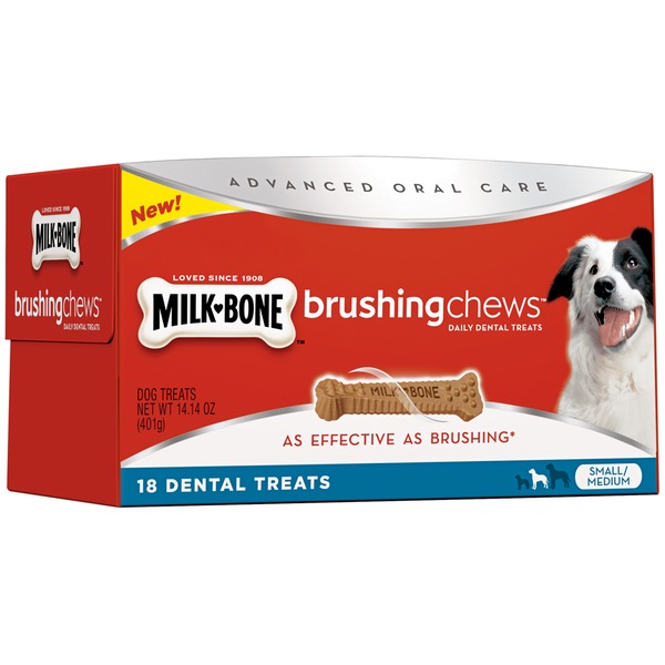 Milk-Bone Brushing Chews Daily Dental Treats - Small/Medium Value Pack Dog Treats