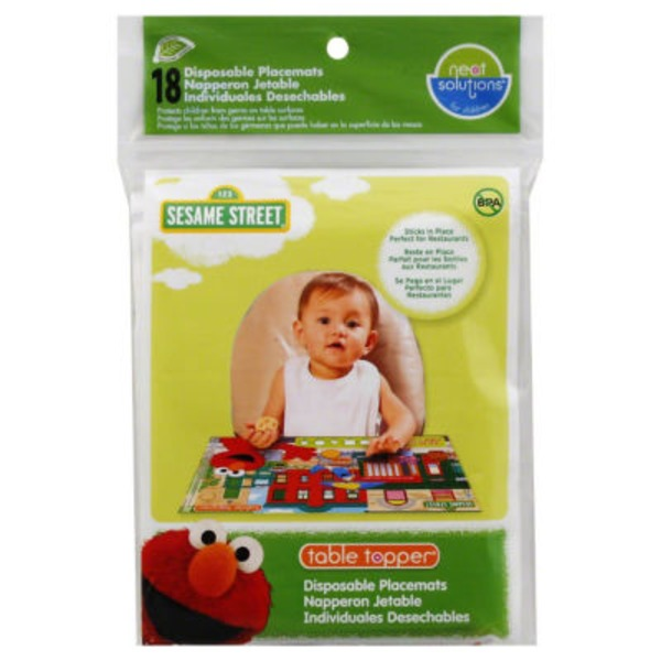 Neat Solutions 123 Sesame Street Disposable Table Topper Placemats