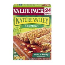 Nature Valley Granola Bars, Crunchy, Oats and Honey, 12 Pouches - 1.5 oz, 2-Bars Per Pouch, 1.49 OZ