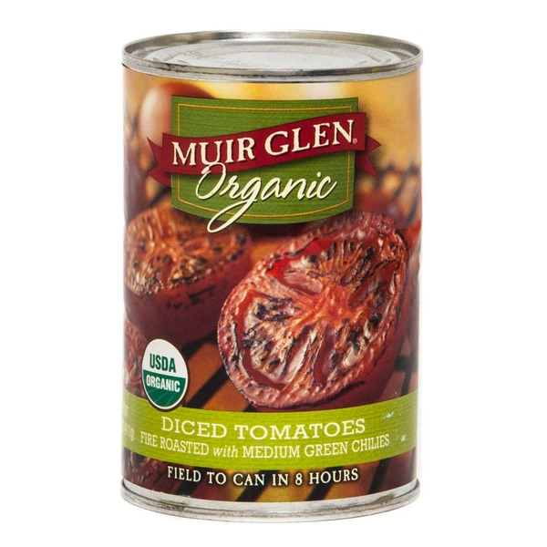 Muir Glen Organic Diced Fire Roasted with Medium Green Chilies Tomatoes