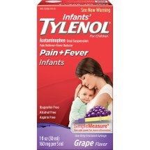 Tylenol Pain + Fever Oral Suspension, Grape, 1 Oz