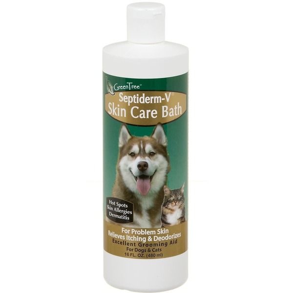 Green Tree Septiderm-V Skin Care Bath for Dogs & Cats with Problem Skin