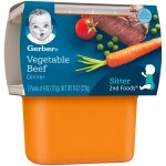 Gerber 2nd Foods Vegetable Beef Dinner Baby Food, 4 oz. Tubs, 2 Count