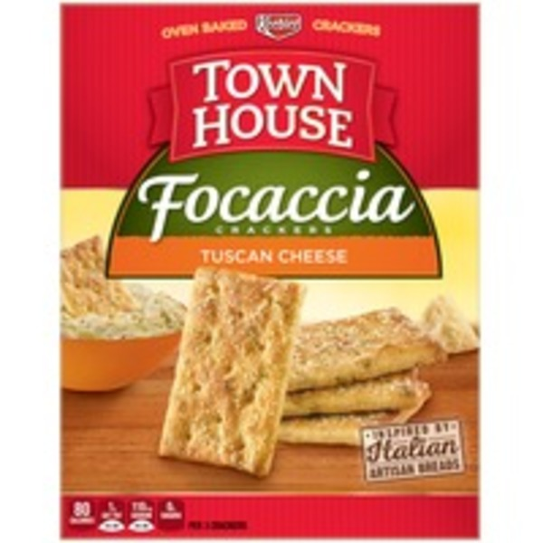 Keebler Focaccia Tuscan Cheese Crackers