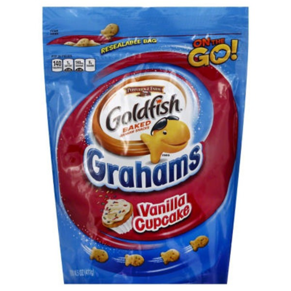 Pepperidge Farm Goldfish Vanilla Cupcake Baked Graham Snacks