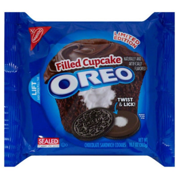 Nabisco Oreo Chocolate Filled Cupcake Limited Edition Sandwich Cookies