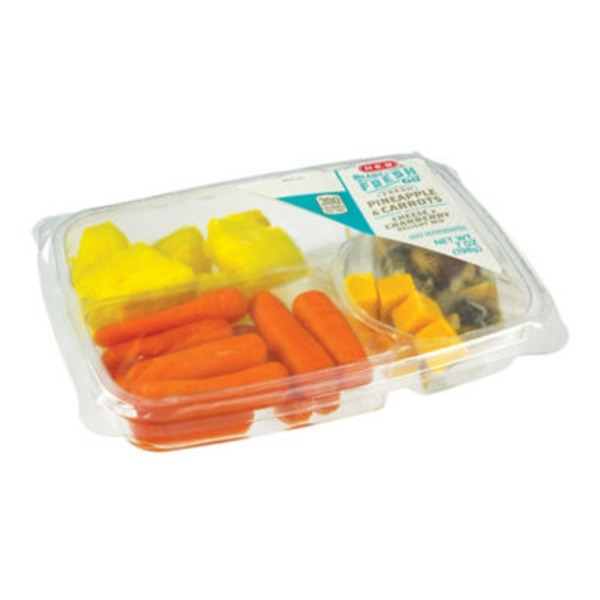 H-E-B Ready Fresh Go Pineapple & Carrots Snack Tray