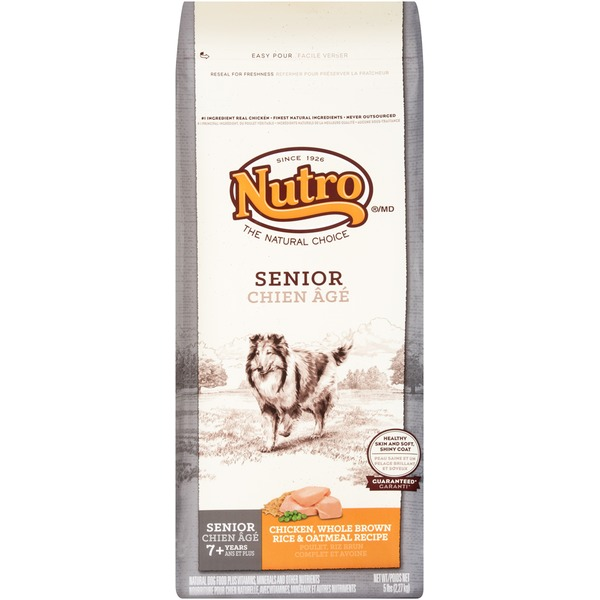 Nutro Senior Chicken Whole Brown Rice & Oatmeal Recipe Dog Food