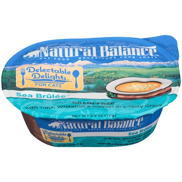 Natural Balance Delectable Delights Sea Brûlée Grain-Free with Tuna Whitefish & Carrots in a Tasty Gravy Cat Food