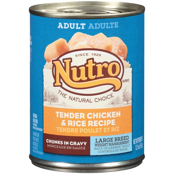 Nutro Hearty Stews Healthy Chicken & Rice Stew Chunks in Gravy Adult Dog Food