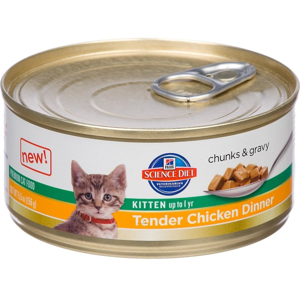 Hill's Science Diet Cat Food, Premium, Kitten, Tender Chicken Dinner