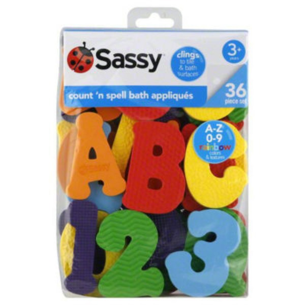 Sassy Bath Appliques, Count 'n Spell, 3+ Years