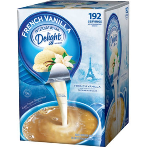 International Delight Non-Dairy French Vanilla Singles Creamer