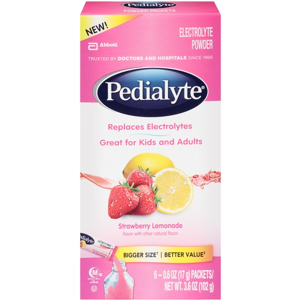 Pedialyte Strawberry Lemonade Electrolyte Powder