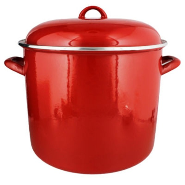 Cocinaware 15 Qt Stock Pot, Red