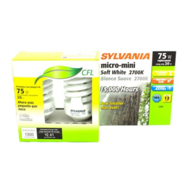 Sylvania 120 Watt CFL Micro Mini 2700 K Light Bulb