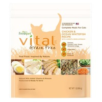 Freshpet Vital Grain Free-Chicken, Ocean Whitefish & Egg Cat Food Recipe With Carrots & Spinach